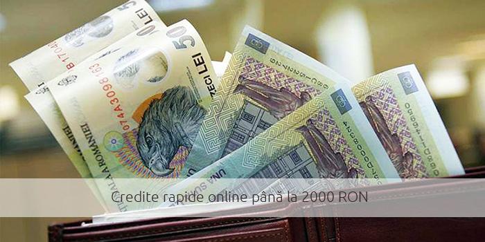 Credite rapide online până la 2000 RON